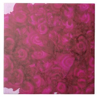 Fuchsia Art Tile