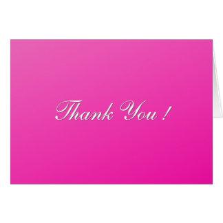Fuchsia Blank Inside Thank You Card