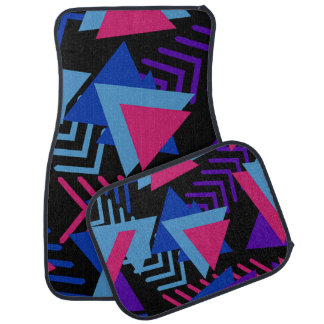 Fuchsia Blue Purple Abstract Set of 4 Car Mats