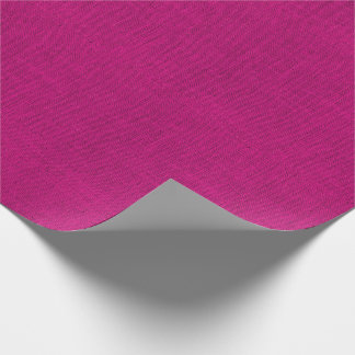 Fuchsia Burlap Texture Wrapping Paper