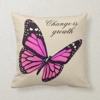 Fuchsia Butterfly Throw Pillow