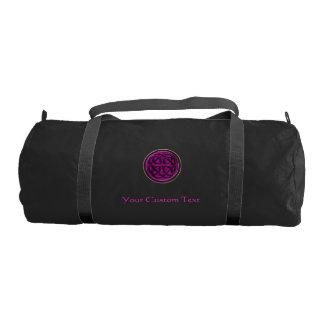 Fuchsia Celtic Knot Personalized Duffel Gym Duffel Bag