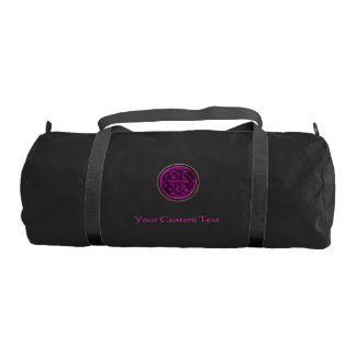 Fuchsia Celtic Knot Personalized Duffel Gym Duffel Bag
