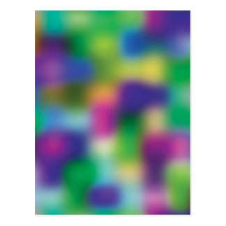 Fuchsia color blur postcard