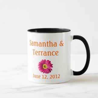 Fuchsia Daisy Flower Customizable Mug