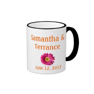 Fuchsia Daisy Flower Customizable Mugs