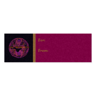 Fuchsia Dragon Medallion Pack Of Skinny Business Cards