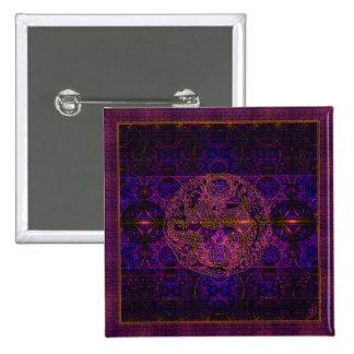 Fuchsia Dragon Tapestry Abstract Art 15 Cm Square Badge
