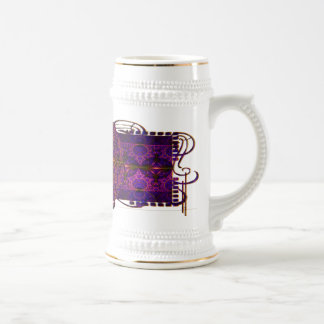 Fuchsia Dragon Tapestry Abstract Art Beer Steins