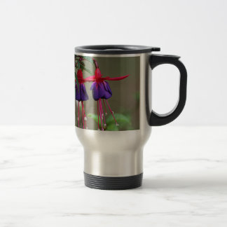 Fuchsia Flowers Travel Mug