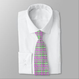 Fuchsia & Green Interlocking Stripes Tie