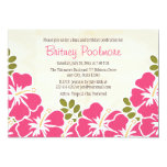 Fuchsia Hibiscus Hawaiian Birthday Party 13 Cm X 18 Cm Invitation Card