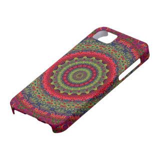 Fuchsia Kaleidoscope Mandala iPhone 5 Covers