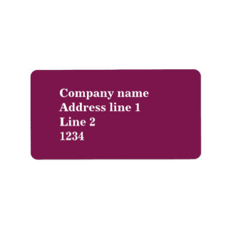Fuchsia Label