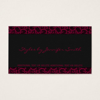 Fuchsia Lace Business Card