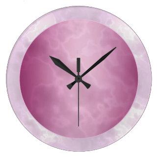 Fuchsia Marbled Large Clock