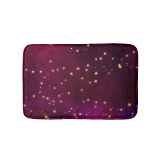 Fuchsia Night Sky Bath Mat