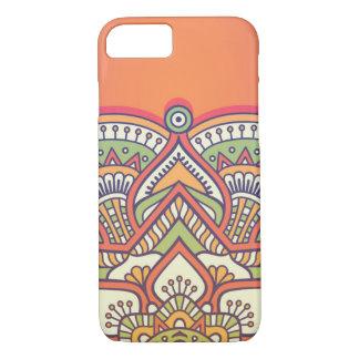 Fuchsia orange colored mandala iPhone 8/7 case