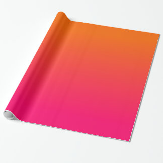 Fuchsia Orange Gradient Wrapping Paper