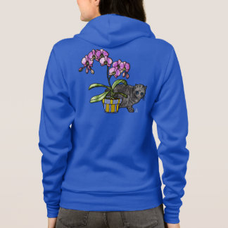Fuchsia Orchid and Kitty Hoodie