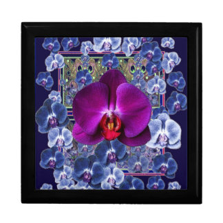 Fuchsia Orchid Bler-Grey Celestial Orchids Large Square Gift Box