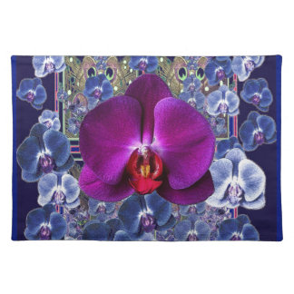 Fuchsia Orchid Bler-Grey Celestial Orchids Placemat