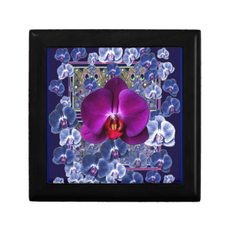 Fuchsia Orchid Bler-Grey Celestial Orchids Small Square Gift Box