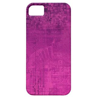 Fuchsia Pink Circuit Board computer geek nerd iPhone 5 Cases