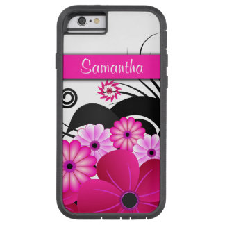 Fuchsia Pink Floral Hibiscus Xtreme iPhone 6 6S Tough Xtreme iPhone 6 Case