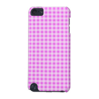 Fuchsia Pink Gingham; Checkered iPod Touch (5th Generation) Covers