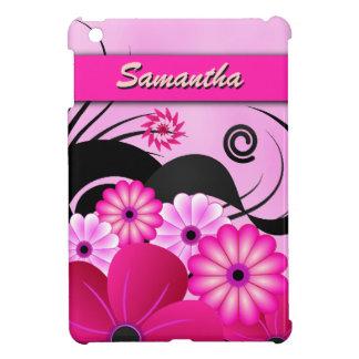 Fuchsia Pink Hibiscus Floral Custom iPad Mini Case Case For The iPad Mini