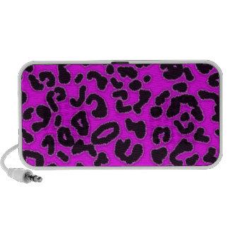 Fuchsia Pink Leopard Animal Print Mp3 Speaker