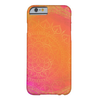 Fuchsia Pink Orange & Gold Indian Mandala Glam Barely There iPhone 6 Case