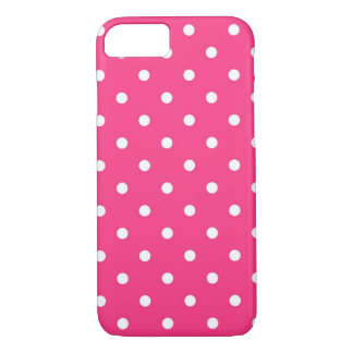 Fuchsia Pink White Polka Dots, Apple iPhone 7 Case
