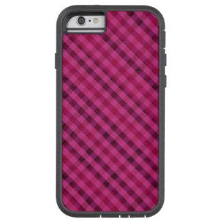 Fuchsia Plaid - Custom iPhone 6 Tough Case