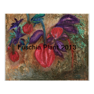 Fuchsia Plant  May 2013 by Robin Lee Poster