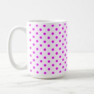 Fuchsia Polka Dots Coffee Mugs
