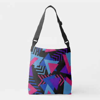 Fuchsia Purple Blue Geometric Design Tote Bag