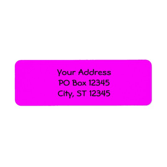 Fuchsia Return Address Label