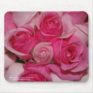 Fuchsia Roses Mouse Pad