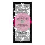 Fuchsia Scroll Gerbera Daisy w/Black and White Personalised Rack Card