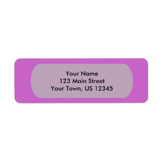 Fuchsia Template Return Address Label