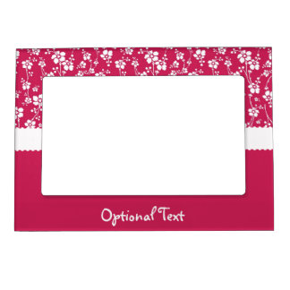 Fuchsia Tropical Floral Magnetic Frame