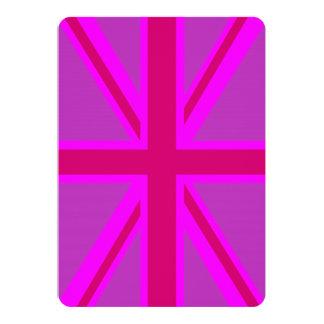 Fuchsia Union Jack 13 Cm X 18 Cm Invitation Card