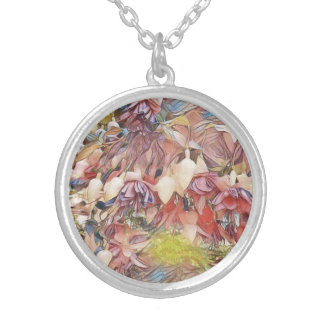 fuchsias in Bloom Pendant Necklace