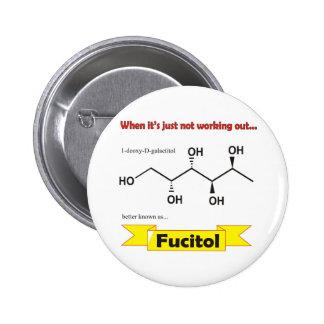 Fucitol Organic molecule Pinback Buttons