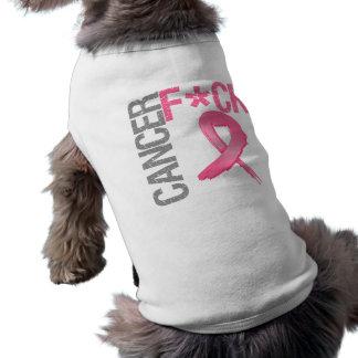 Fuck Cancer - Breast Cancer Sleeveless Dog Shirt