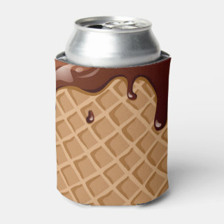Fudge Waffle Cone Can Cooler