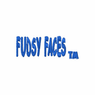 """Fudsy Faces""-Embroidered Hoodie-Logo"