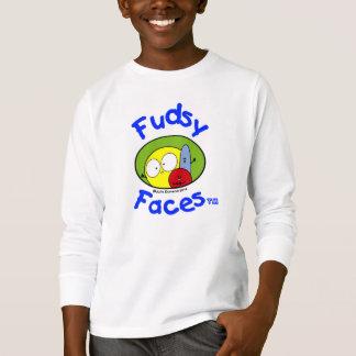 """Fudsy Faces""- Logo, Kids' Tagless Long Sleeve Tee"